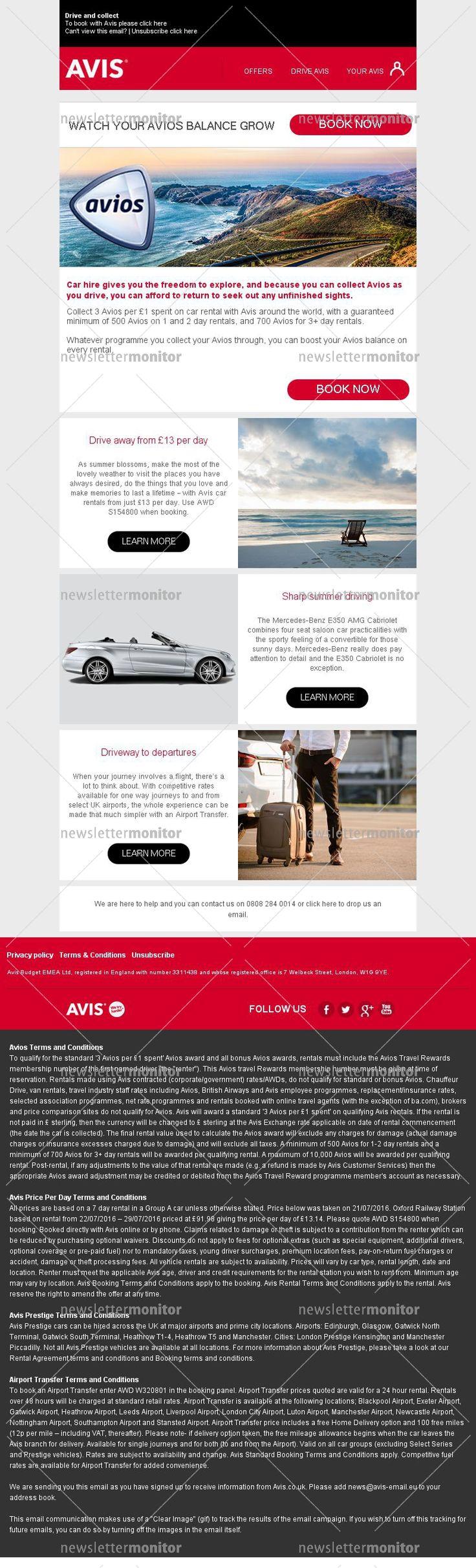 Collect avios points with avis car rentals marketing digitalcar rental