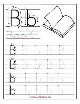 Printable letter B tracing worksheets for preschool - Printable Coloring Pages For Kids