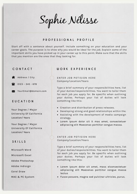 Cv Template For Over 40 Resume Examples Good Resume Examples