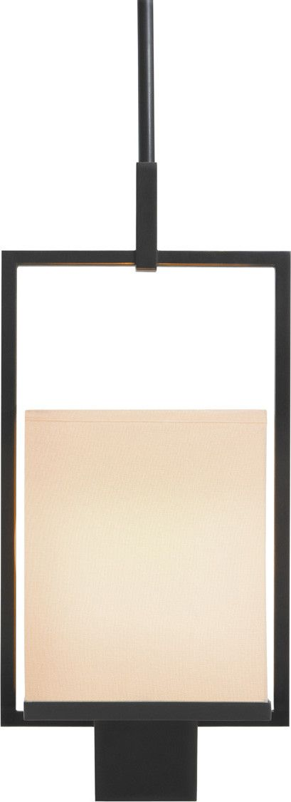 Metro Pendant, with its luminous shade and crisp black rectilinear frame, allows…