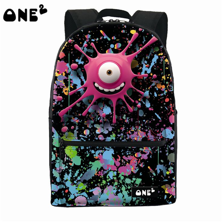 ==> [Free Shipping] Buy Best ONE2 Design rose red emoji monster colorful school bag laptop backpack for boys girls man women high school teenager students Online with LOWEST Price | 32642293461