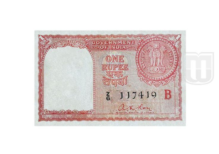 "1 RUPEE | Issued Circle : Bombay | Size (Cm) : 10.1 X 6.4 | Shape : Rectangular | Year: 1959 | Signatory : A. K. Roy | Inset: B | Language Panel: 7 Languages Bangla, Gujarati, Kannada, Oriya, Tamil, Telugu, Urdu | Vignette : Obverse of a One Rupee coin displaying the Ashoka Pillar; ""BHARAT"" in Hindi to the left and ""INDIA"" to the right of the pillar | Watermark : Ashoka Pillar (National Emblem) |"