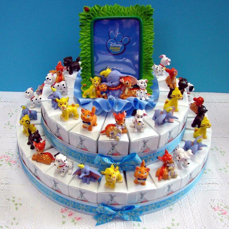 Italian Favor Cake with Disney animal friends, 42 boxes http://www.tortebomboniere.com/bomboniere/walt-disney-favor-cake.html