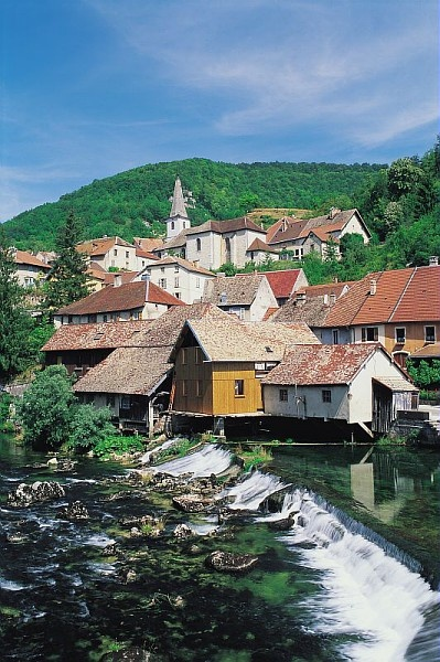 """Lods - """"Les petites Cités Comtoises de Caractère"""" is  a group of 31 small towns in Franche-Comté  that are full of character and characteristic  of Franche-Comté, and all located in rural  areas boasting exceptional cultural and tourist  heritage."""