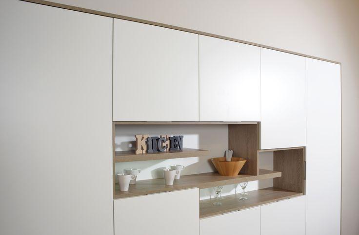 Colección Nápoles.  Disponible en 30x60 y 60x60 cm.    #napoles #crema #tauceramica #ceramica #tile #porcelanico #porcelaintile #cemento #cement #cocina #kitchen #interiordesign