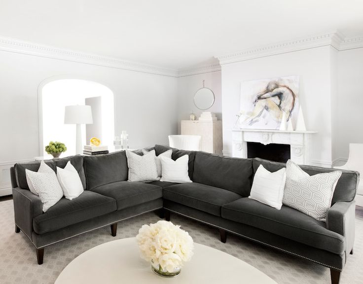 White Gray Living By Mas Design Light Gray Paintliving Room