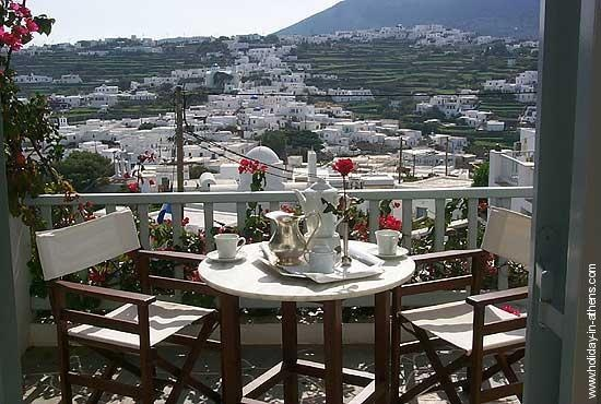 Sifnos: view from Hotel Petali Village hotel