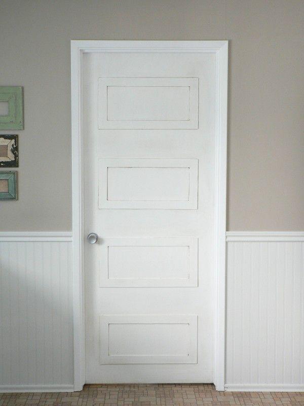 4 rectangle paneled door DIY update - For the Love of It