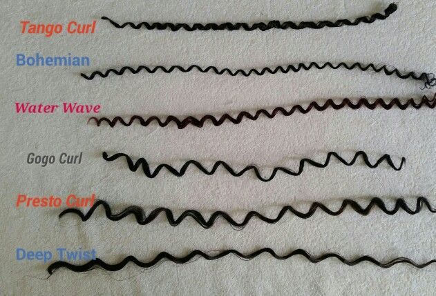Various curl patterns from Freetress for CROCHET BRAIDS!!