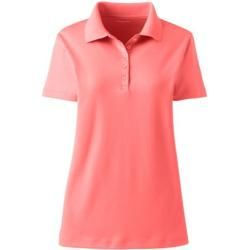 Supima-Poloshirt - Orange - 48-50 von Lands' End Lands' End