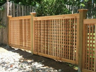 5 4 High Square Lattice Fence With 5x5 Posts And