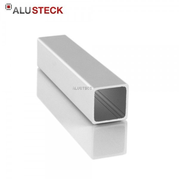 Aluprofile » Alu Vierkantrohr 25 x 25 x 1,5 mm im ALUSTECK® Onlineshop bestellen » eloxiert / blank » Zuschnitt-Service » Europaweiter Versand.