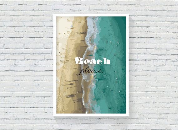 Beach surfer quote. Blue surf beach life by KeepMakingSmiles