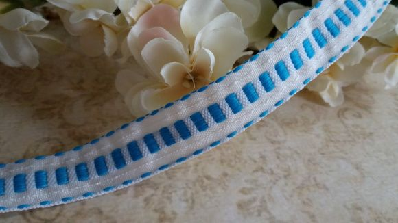Fita Decorativa com pesponto Azul