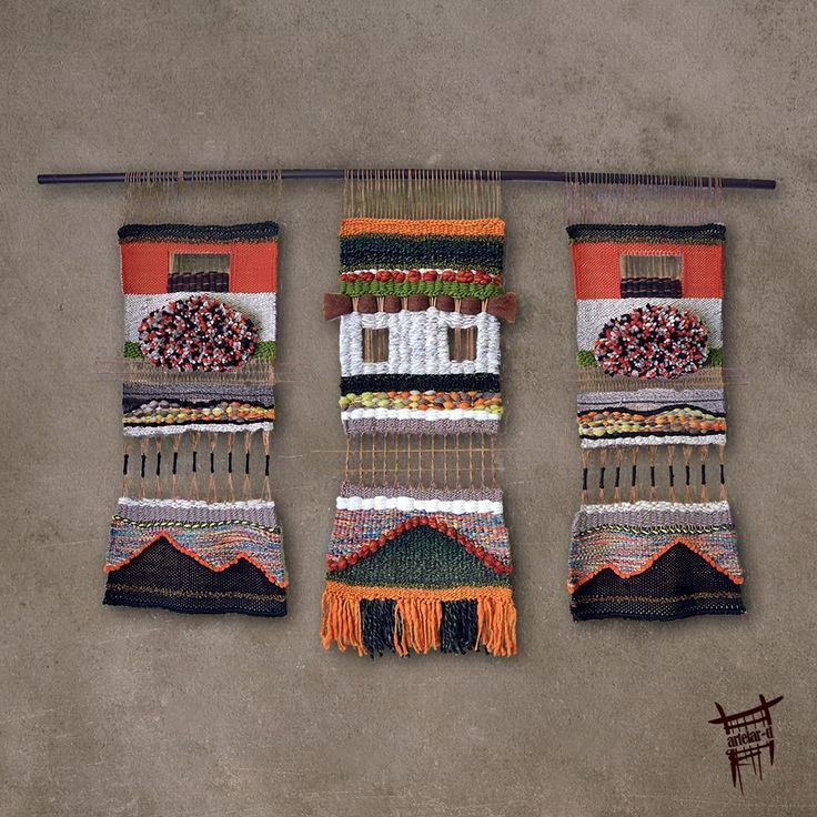 Telares de lana 100% natural para decorar la casa http://evidasana.com/blog/decorar-casa-elementos-naturales/