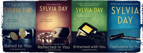 This is the complete 4 book series collection of the Crossfire Series by Sylvia Day.    Included:  1.  Bared to You  2.  Reflected in You  3.  Entwined with You  4.  Captivated by You  5.  One With You  ___________________________________________  eBook can be read on any Computer (PC or MAC), iP...