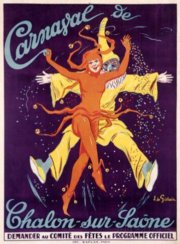 Carnaval de Chalon-Sur-Saone Giclee Print by J. De Gislain at AllPosters.com