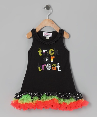 Take a look at this PATP Black 'Trick or Treat' Dress - Infant, Toddler & Girls by Happy Hauntings Collection on @zulily today!
