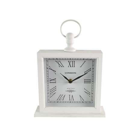 Large White Mantel Clock   Dunelm