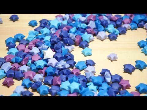 使うのは画用紙とハサミだけ!ラッキースターの作り方! how to make lucky star - YouTube