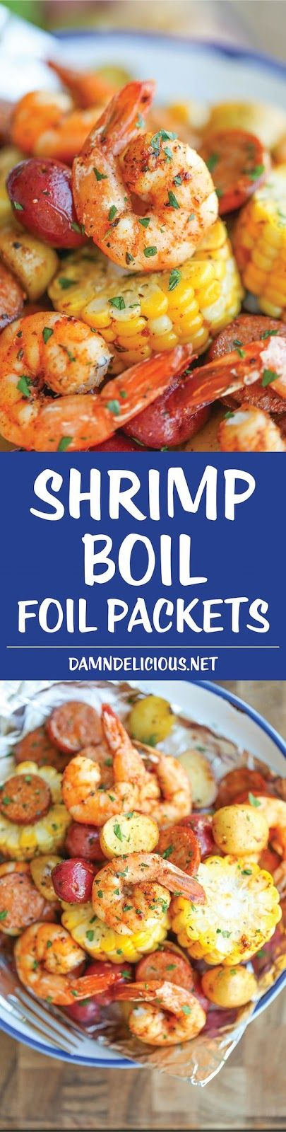SHRIMP BOIL FOIL PACKETS | Cake And Food Recipe
