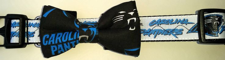 A personal favorite from my Etsy shop https://www.etsy.com/listing/263622205/carolina-panthers-dog-collar-bowtie
