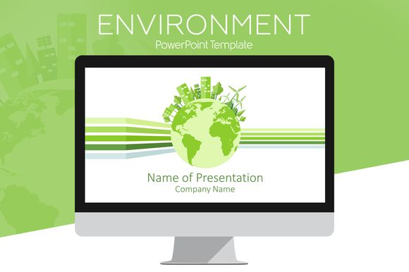 Environment PowerPoint Template by PresentationDeck on @creativemarket