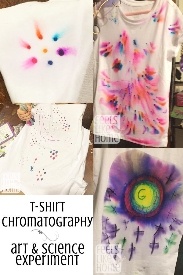 Who even knows what t-shirt chromatography means?? But it is awesome! So easy, and a great learning opportunity for kids of all ages!