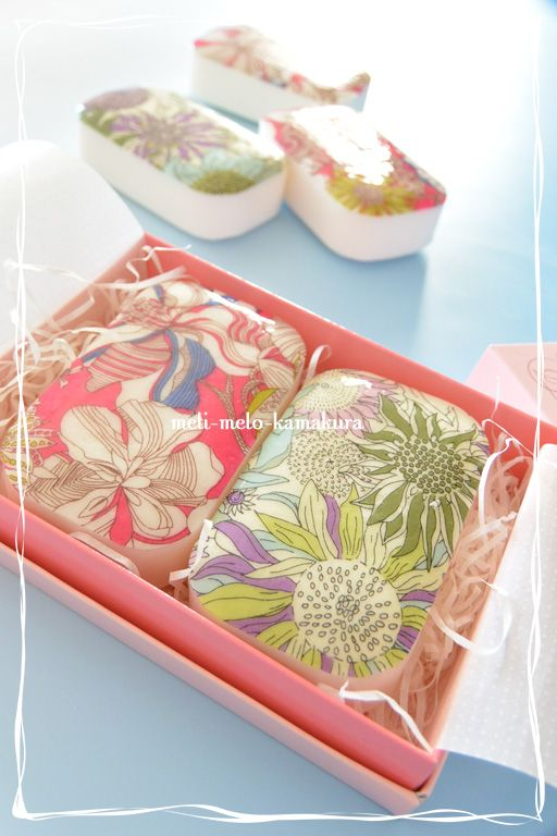 ◆デコパージュ*布でもできます、『LIBERTY』の石けん : フランス雑貨 ... f0251032_2052370.jpg