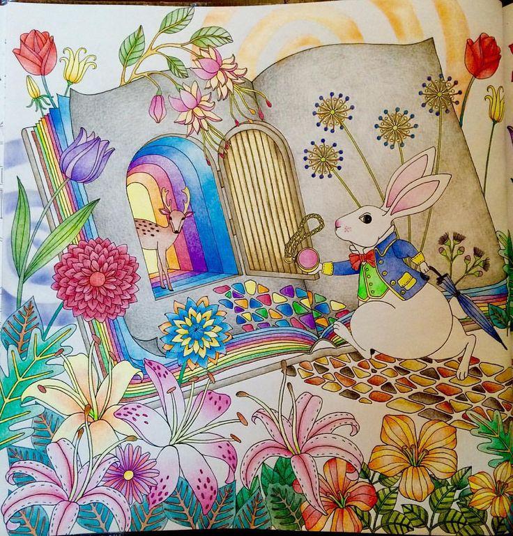 Mr. White Rabbit ⏱ #วันเดอร์แลนด์ดินแดนแห่งความฝันและจินตนาการ #AmilysColorfulWonderland #AmilyShen #coloringbook #colleencoloredpencils #컬러링북 #이상한나라의앨리스