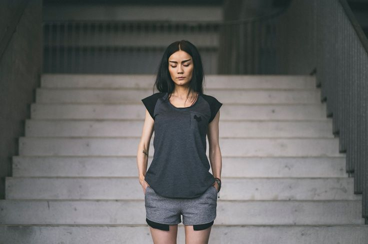 CUB lookbook spring/summer 2014 #polishfashion #fashion #cub #cub_wear #summer #cotton #natural #wild #grey #black #girl #concrete #industrial #look #city #Tshirt #free