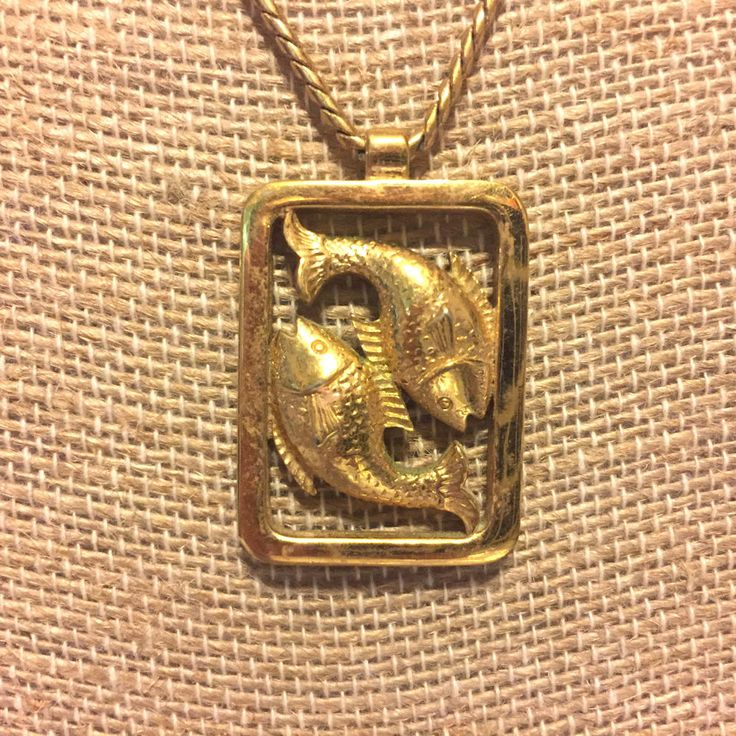 Vintage Pisces Fish Avon Pendant Necklace | Jewelry & Watches, Vintage & Antique Jewelry, Costume | eBay!