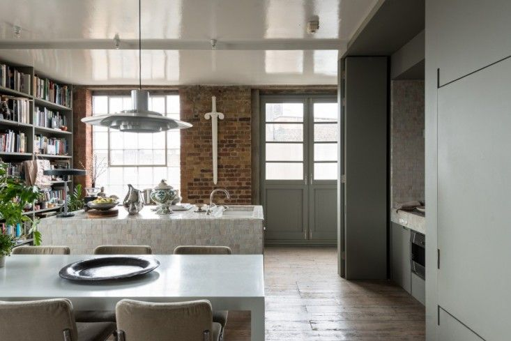 Ilse Crawford's London Flat Hits the Market - Remodelista    The central island is clad in Moroccan zellige tiles