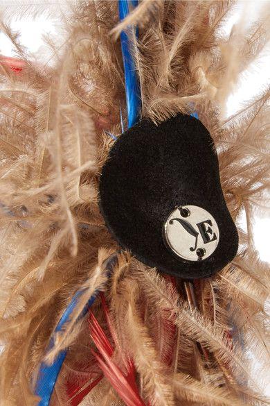 Eugenia Kim - Mariko Feather-embellished Headpiece - Beige