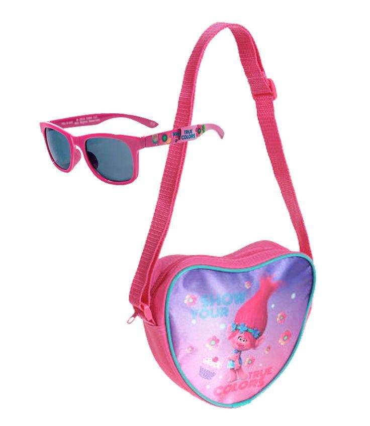 Trolls Sonnenbrillen und Handtasche pink in Größe UNI für Mädchen