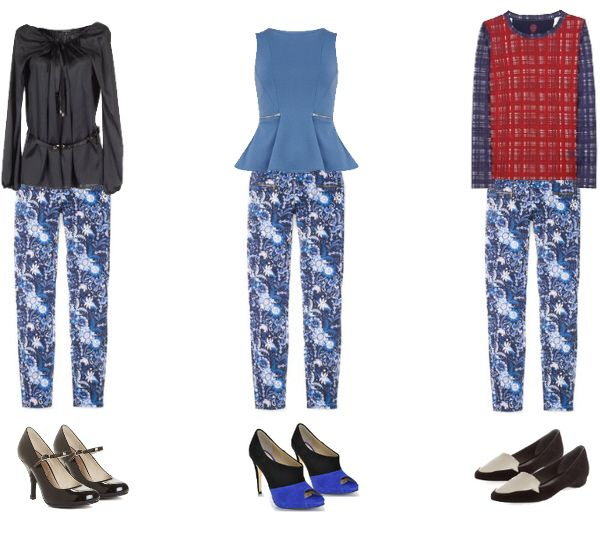 3 ways to wear printed pants to the office, fashion tips on how to pull off this trend. #floral  #style