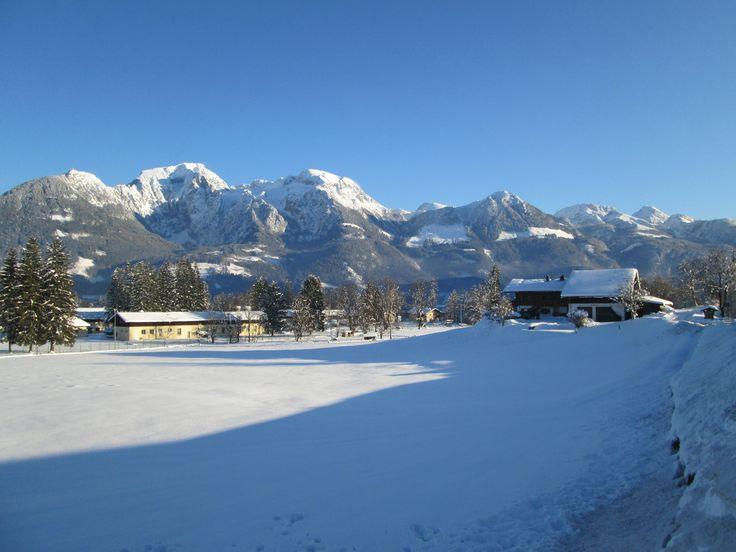 Winterzauber im Berchtesgadener Land in Bayern mit Blick auf den Jenner, Hohes Brett, Hoher Göll  #Berge #Alpen #Bayern