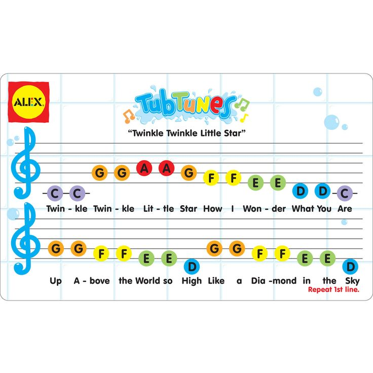 xylophone notes for twinkle twinkle little star