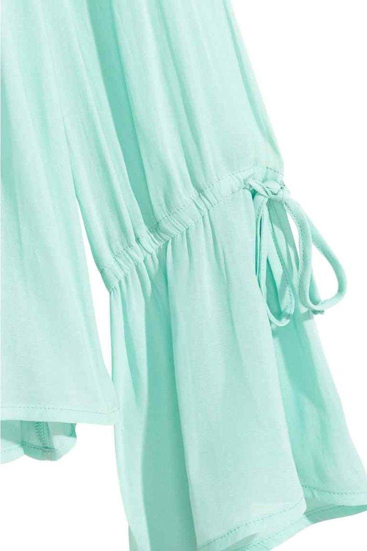 V Yakalı Bluz - Nane yeşili - Ladies | H&M TR