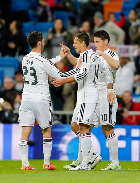 Isco, Chicharito and James - Real Madrid C.F. #HalaMadrid