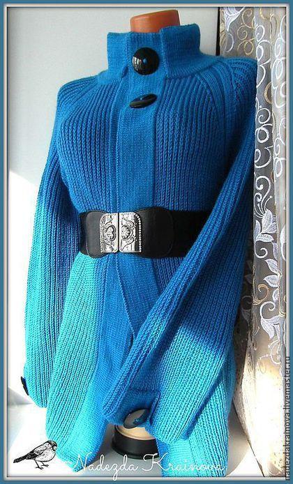 Купить или заказать Кардиган 'Весна' в интернет-магазине на Ярмарке Мастеров. Нежно синий кардиган связан из турецкой качественной пряжи очень мягкий и приятный к телу.Застегивается на 1 пуговицу.