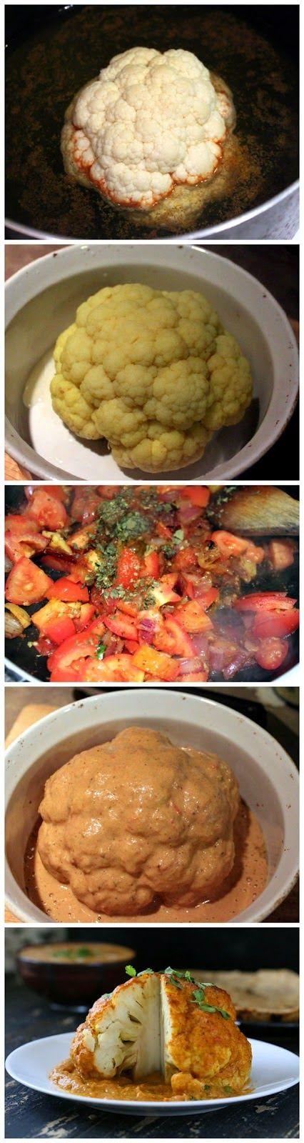 Whole roasted cauliflower - Delicious Recipeez