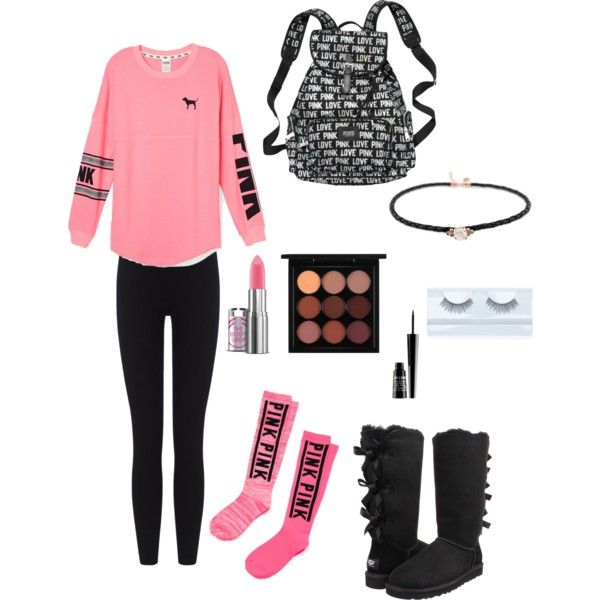 A fashion look from April 2015 featuring Victoriau0026#39;s Secret PINK sweatshirts James Perse ...