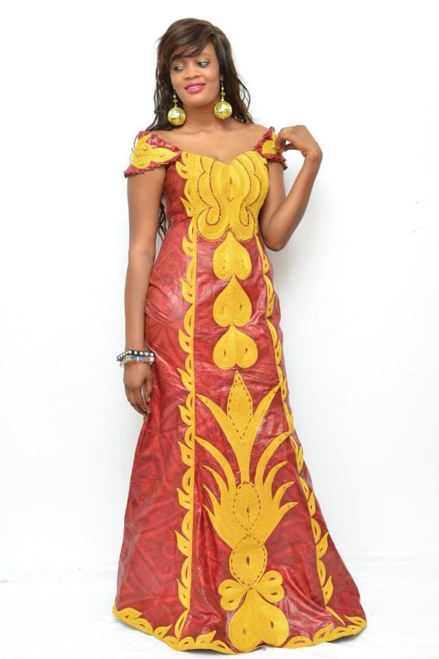Brocart africaine brodé Robe maxi par NewAfricanDesigns sur Etsy https://www.etsy.com/fr/listing/208681709/brocart-africaine-brode-robe-maxi
