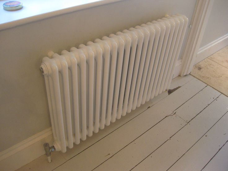 White steel classic column radiators - a possible alternative to white cast iron radiators.