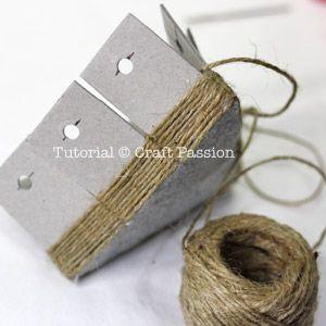 cardboard basket weaving  with sisal rope for office