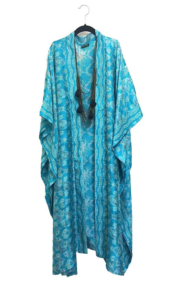 Maxi length kimono jacket / beach cover up / kaftan by Bibiluxe, £85.00