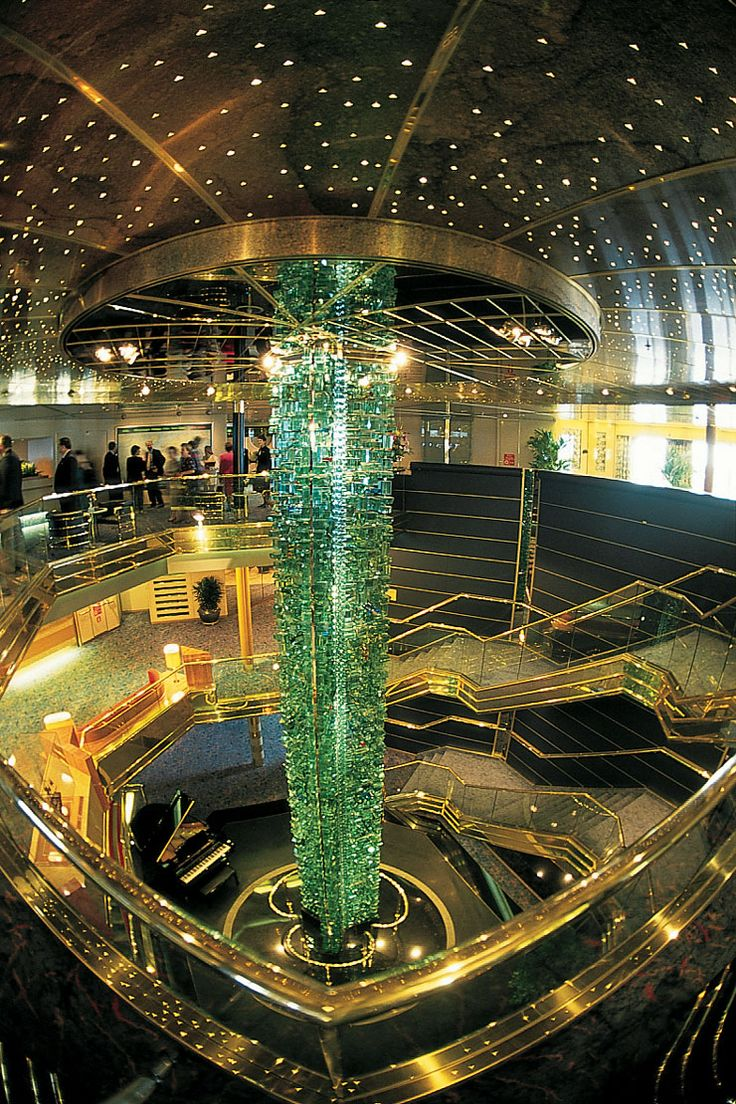 The atrium of the MS Maasdaam Holland America cruise ship - one of my Favorite cruise ships of all time....