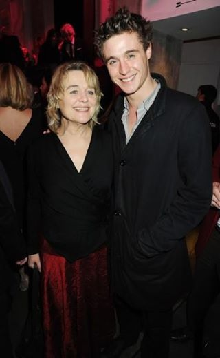 Max and his mama Sinead Cusack