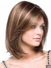 Resultado de imagen de Square Medium Length Hairstyles with Bangs